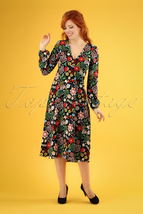 Traffic People 27325 Mama Mia Floral Dress 20190116 1W