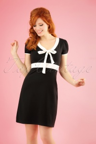 60s Terri A-Line Dress in Black and Ivory