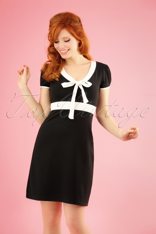 Vintage Chic 28726 Black and White Bow Dress 20190108 1W
