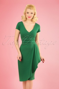 Vintage Chic 28728 50s Crystal Emerald Green Dress 20190108 1W