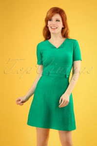 60s Sweet Girl Dress in Fern Green