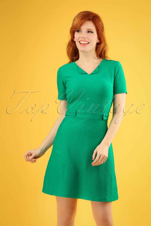 60s Dresses | 1960s Dresses Mod, Mini, Hippie 60s Sweet Girl Dress in Fern Green £37.03 AT vintagedancer.com