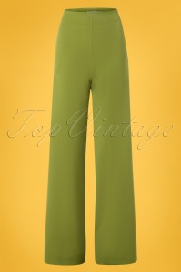 Very Cherry 40s Marlene Pants in Olive Green