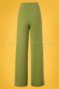 Very Cherry 26999 Marlene Pants Green Olive 20190212 004W