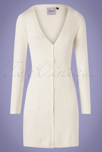 50s Katie Long Cardigan in Cream