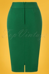 Very Cherry 26997 Pencil Skirt Green 20190212 005W