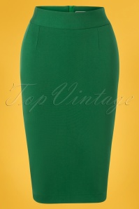 Very Cherry 50s Classic Pencil Skirt in Emerald Green