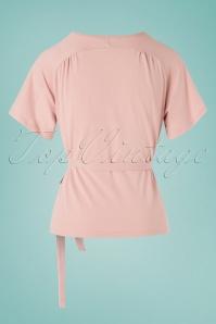 Banned Retro 28504 30s Fancy Blush Blouse Pink Wrap 20190212 007W
