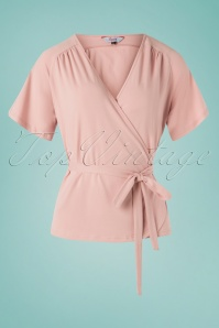 Banned Retro 30s Fancy Raglan Top in Blush
