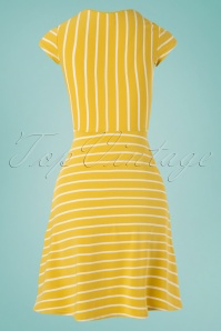 Blutsgeschwister 27290 Yellow Logo Stripe Dress 20190208 001W