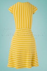 Blutsgeschwister 27290 Yellow Logo Stripe Dress 20190208 001W
