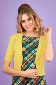 50s Overload Cardigan in Yellow