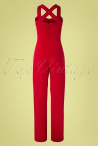 Vintage Chic 29078 Red Wide Leg Jumpsuit 20190208 007W