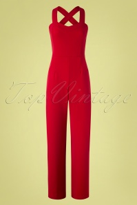 Vintage Chic for TopVintage 50s Audrina Jumpsuit in Lipstick Red
