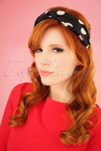 Darling Divine 28967 HeadBand Dotted White Black 20190131 001W