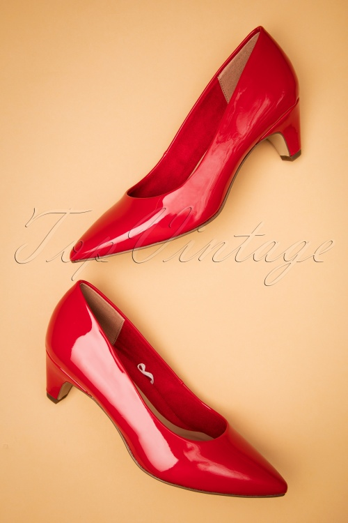 Tamaris 27821 Pump Chili Red Heels Shiny 20190207 008W