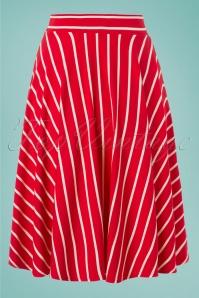 Blutsgeschwister 27284 Logo stripe skirt 20190208 002W