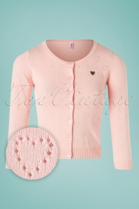 Blutsgeschwister 60s Wonderwaist Hope Heart Cardigan in Rose