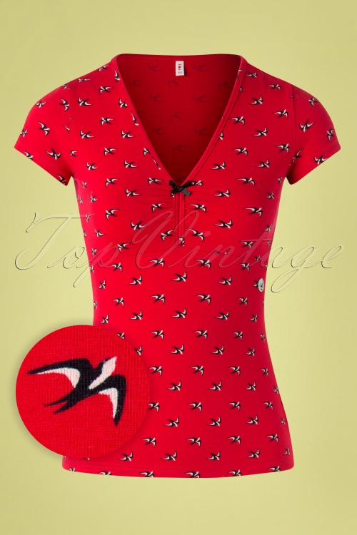 Blutsgeschwister 27300 Lucky Frontlu Bird Red Black Shirt 20190212 002W1