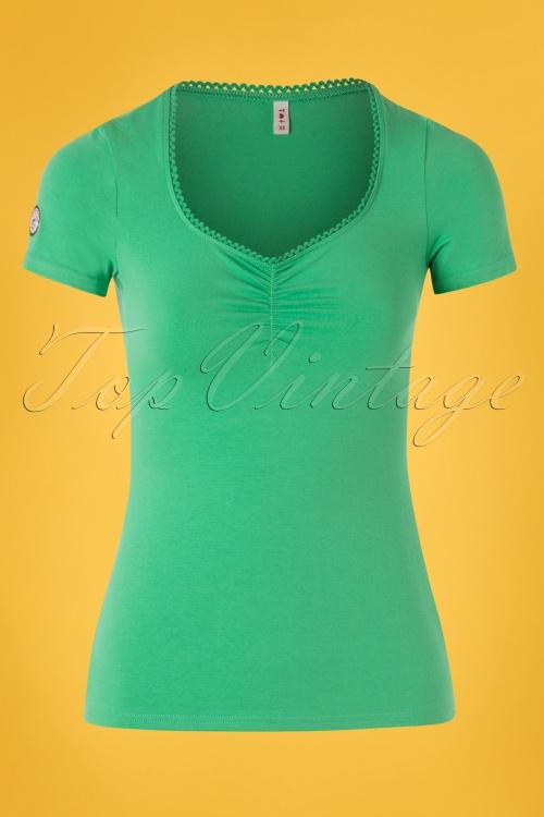 Blutsgeschwister 27304 Logo Shirt Green Shortsleeve top 20190212 001W