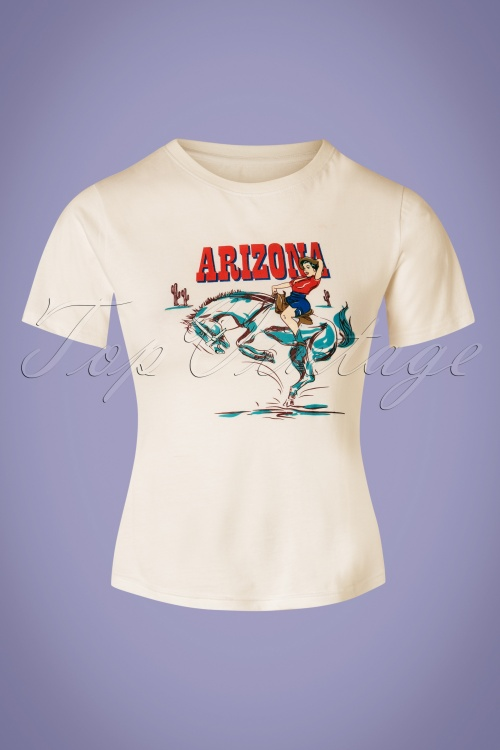 Collectif Clothing 27395 Arizona Western T Shirt in White 20180813 001W