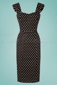 Collectif Clothing 27414 Jill Polka Dot Pencil Dress 20180815 001W