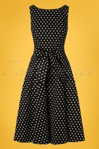 Collectif Clothing 27428 Frances Polkadot Swing Dress 20180814 001W