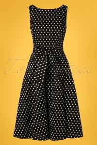 Collectif Clothing 27428 Frances Polkadot Swing Dress 20180814 001W