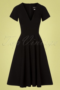 50s Norah Swing Dress in Black