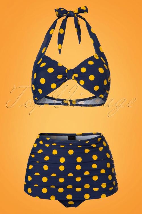 Esther Williams Navy Yellow Bikini 24146 24147 20180308 0002W
