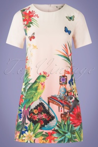 Yumi 27649 Mexican Artists Parrot Monkey Dress 20190214 003W
