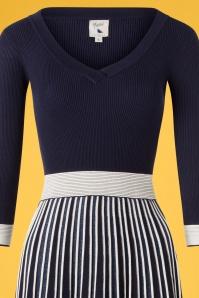 Yumi 27654 Pleated Striped Dress 20190214 008V