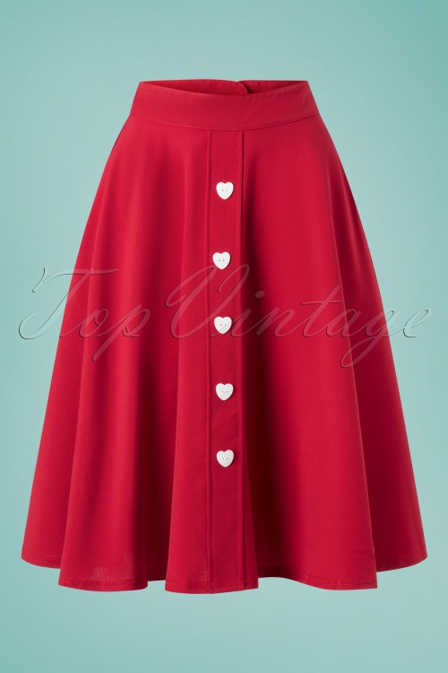 Steady Clothing 28904 Be Still My Heart Red Skirt 20190214 004W