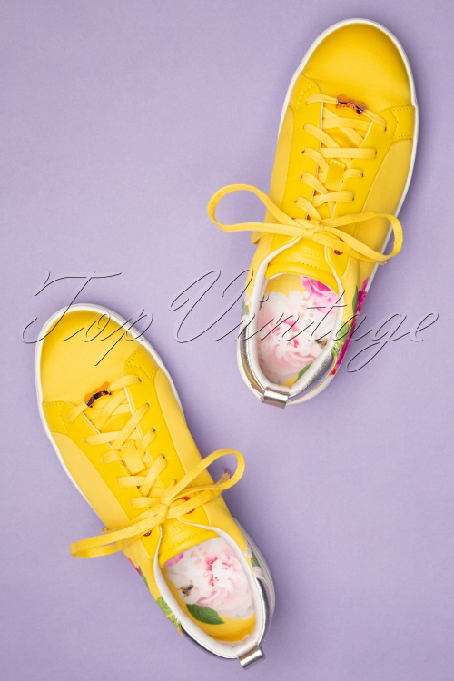 50s Rialy Rose Magnificent Yellow Sneakers In 6Yfygvb7