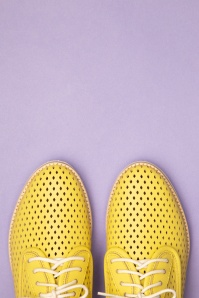 Rollie Shoes 27870 Derby Punch Yellow Sneakers 20190205 023