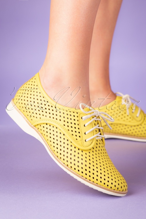 Rollie Shoes 27870 Derby Punch Yellow Sneakers 20190205 012W