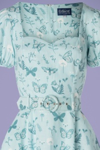 Collectif Clothing 27470 50s Paisley Butterfly Swing Dress 20190215 001V