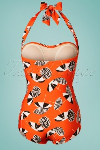 Girlhowdy 29195 Orange Parasol Swimsuit 20190215 006W