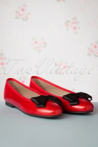 50s Menina Bow Flats in Red