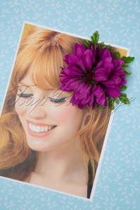 50s Claire Hair Flower in Purple