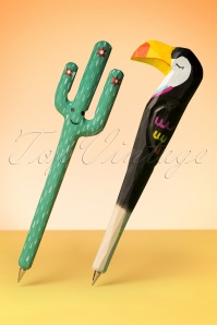 Toucan and Cactus Pen Set