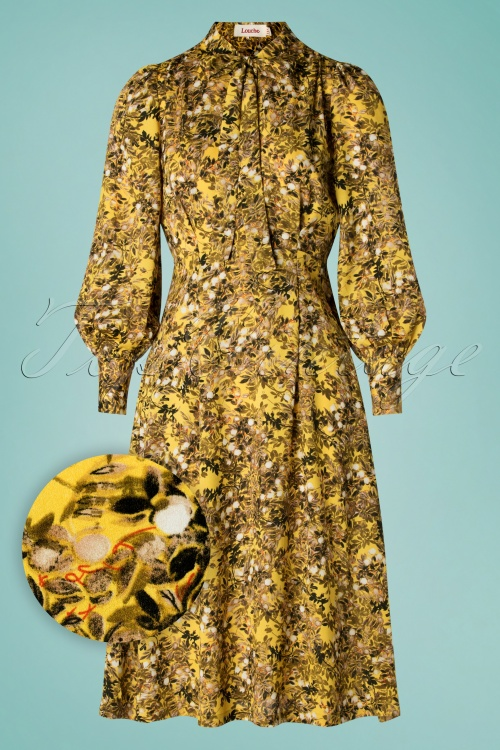 Louche 28288 Fiorella Long Yellow Dress 20190215 002W1