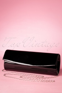 Take Her Everywhere Evening Clutch Années 50 en Noir