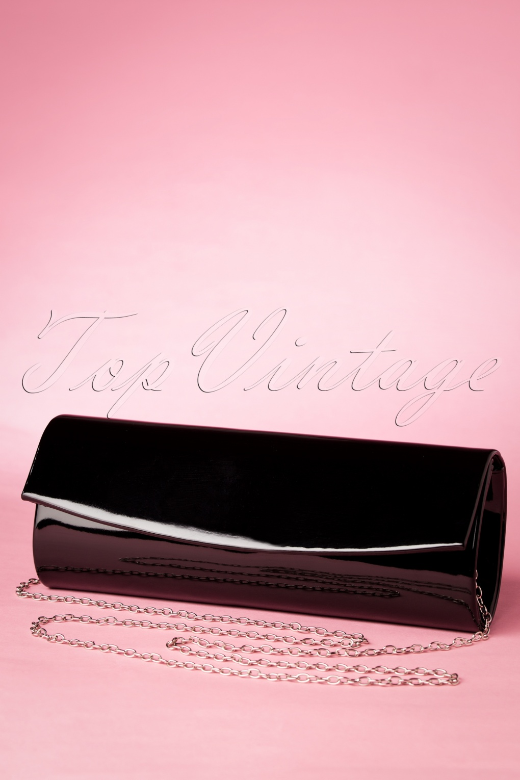50s Take Her Everywhere Evening Clutch in Black
