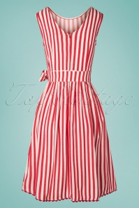 Mademoiselle Yeye 27065 Pick a Cherry Striped Dress 20190218 009W