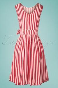 Mademoiselle Yeye 27065 Pick A Cherry Striped Dress 20190218 009W