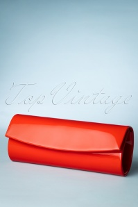 Take Her Everywhere Evening Clutch Années 50 en Rouge