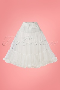 50s Soft Fluffy Petticoat in White