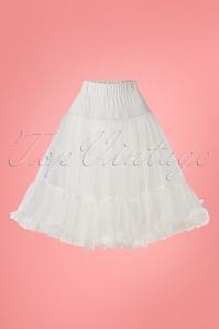 Soft Fluffy Petticoat Années 50 en Blanc