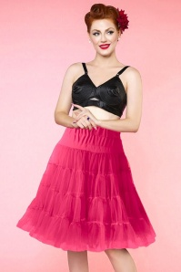 50s Soft Fluffy Petticoat in Hot Pink